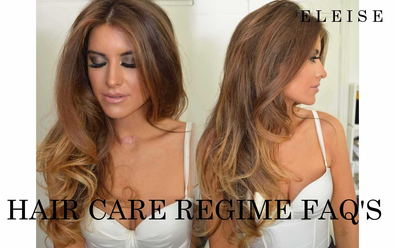 eleise beauty blogger hair care routine