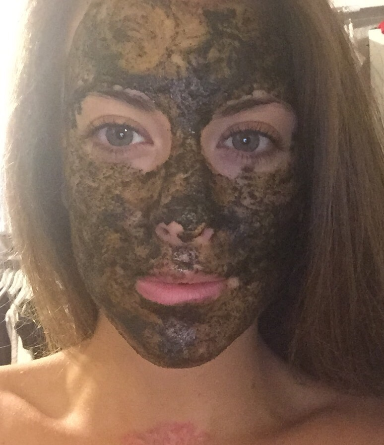 DIY activated charcoal mask with manuka honey and turmeric