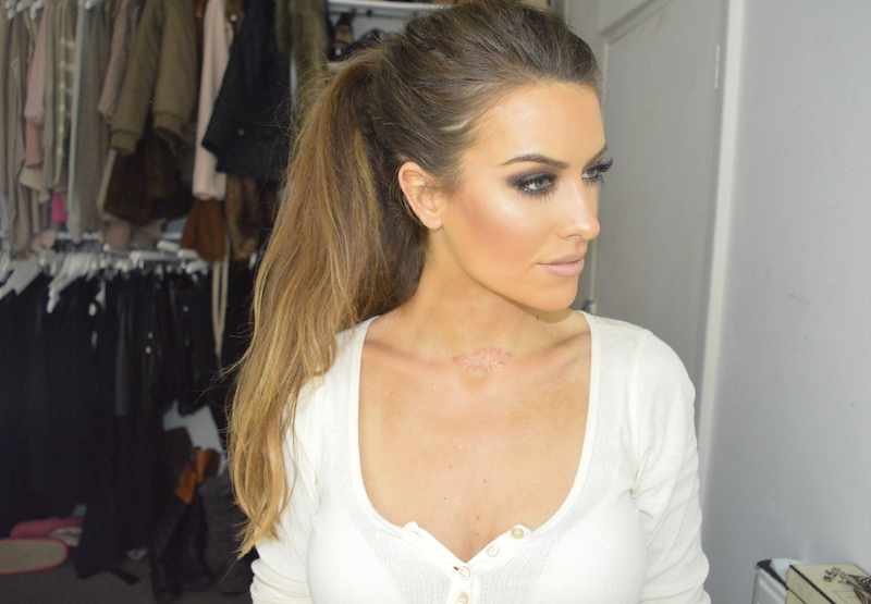 messy pony tail with extensions eleise lucraft blogger