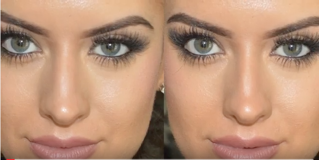 nose contouring before and after elegise