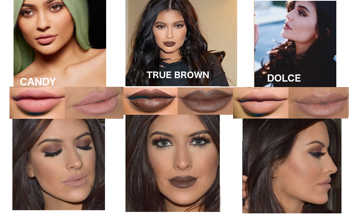 Kylie jenner lip kit dupes, Candy K, Dolce K, True Brown eleise lucraft blogger