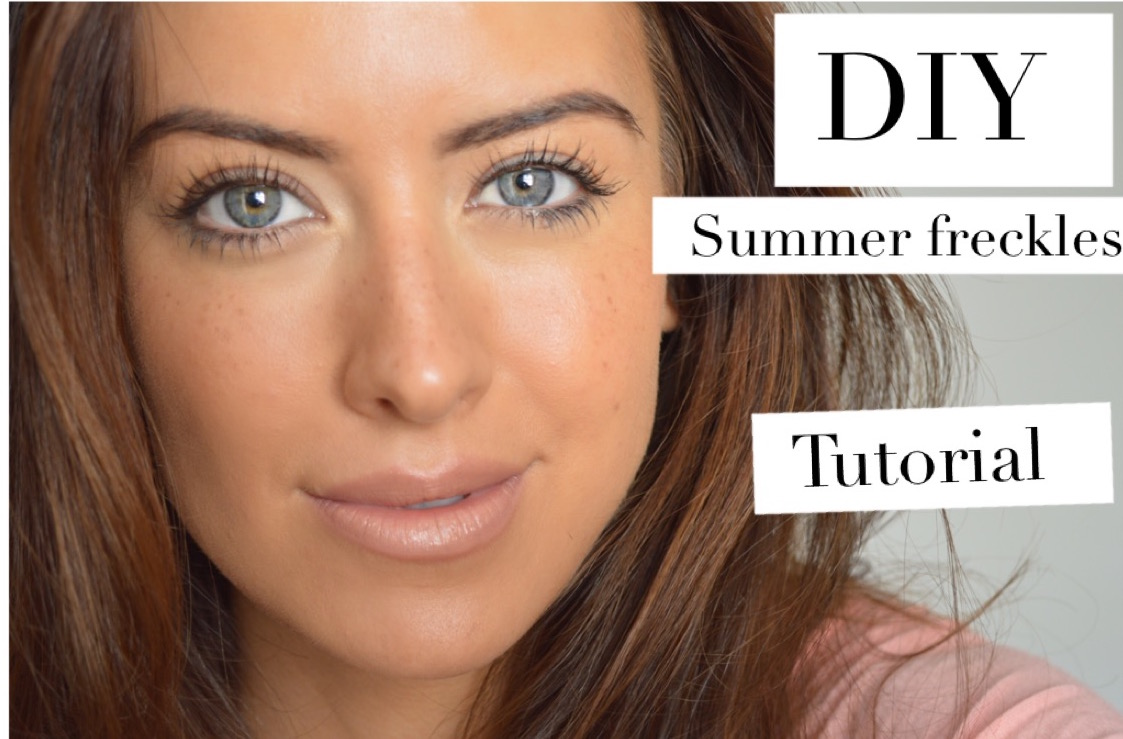 DIY draw on freckles tutorial eleise beauty blogger